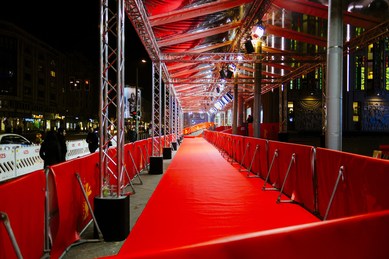 Red carpet in event at night