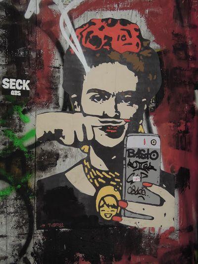 Frida Kahlo Mexican Painter Graffiti Art Barcelona Street Art