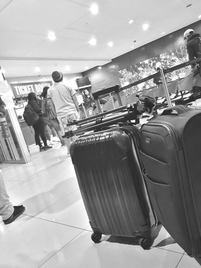 Always look forward. Pack your things and make that trip right now! Luggge People Indoors  Adult Adults Only Rethink Things Faceless EyeEmNewHere Seats Chairs Terminal Lighting Eye4photography  Black And White Friday