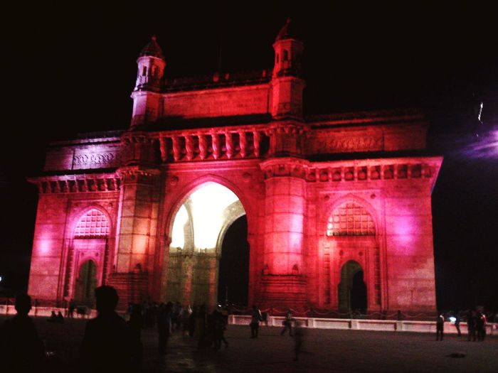 Night view, Gateway of India