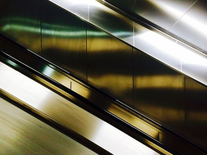 View of escalator