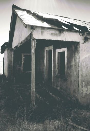 """""""Once Upon A Time In Cedarvale No. 3"""" Dehiscent Entry. New Mexico Photography New Mexico Weathered Old Buildings Old Houses Abandoned & Derelict Abandoned Buildings Abandoned Places No People Abandoned Architecture Built Structure Nature"""