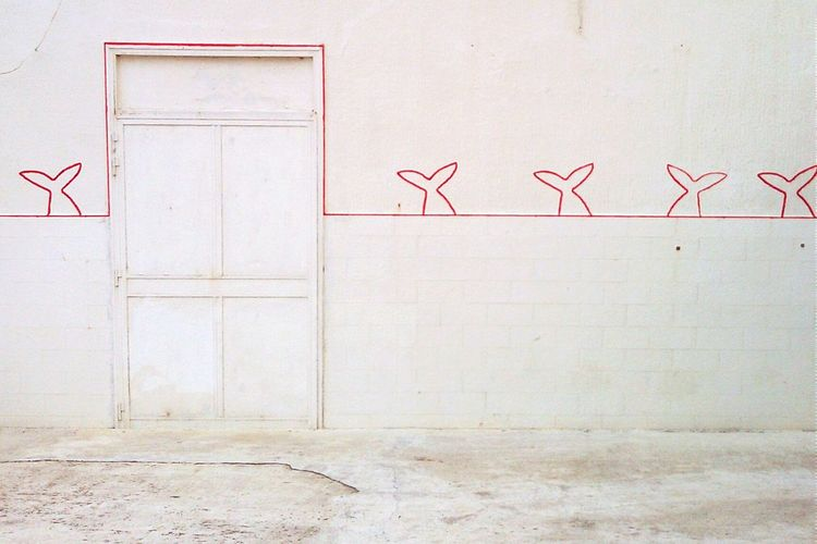 Line Art On Building Wall