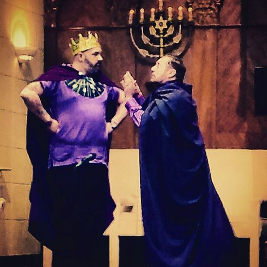 Haman pleads with the King.... Purim Purimsuperhero Miamigaymenschorus Chorus Childrensbooks Childrensmusicals Show Showchoir