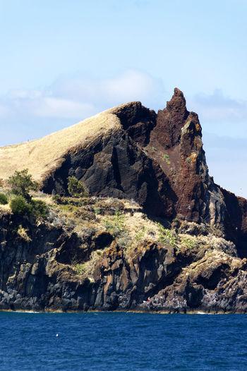Atlantic Ocean Beach Canico De Baixo Coast Landmark Madeira Portugal Resort Tourism Travel