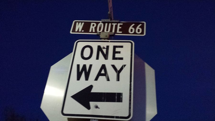 Only One Way!! 66 Route William Arizona
