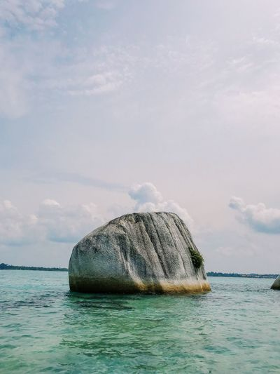 when in Belitong, Indonesia Exploreindonesia Belitung Island Travel Destinations Indnesia Water Sky Cloud - Sky Waterfront Beauty In Nature Day Nature Scenics - Nature Rock Marine Outdoors No People First Eyeem Photo