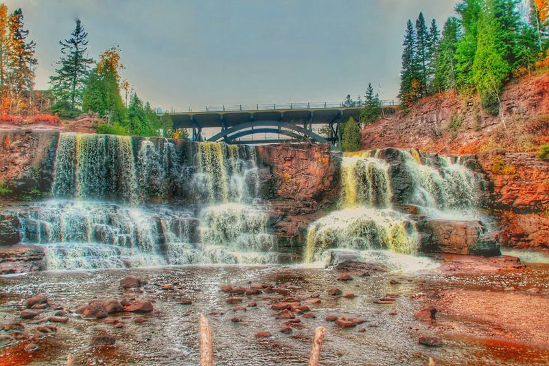Bridge - Man Made Structure Connection Water Motion Waterfall Built Structure Architecture Flowing Water Tree Long Exposure River Bridge Clear Sky Scenics Travel Destinations Flowing Arch Bridge Day Nature Outdoors Slarsenphotography