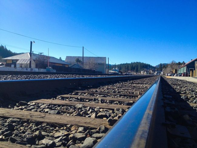 Train Tracks Truckee  California On The Road