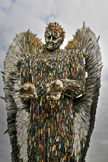EyeEm Gallery EyeEmNewHere Knife Angel Art And Craft Day Eye4photography  Metal No People Outdoors Sky Welding Work
