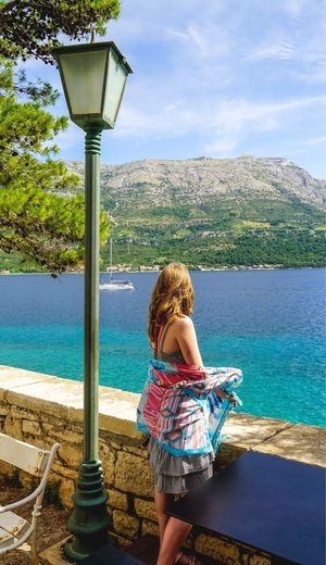 Girl Korčula Rear View One Person Real People Water Leisure Activity Lifestyles Day Scenics Nature Beauty In Nature Standing Sea Outdoors Young Women Full Length Women Tree Young Adult Sky Nautical Vessel Woman Beauty Beautiful