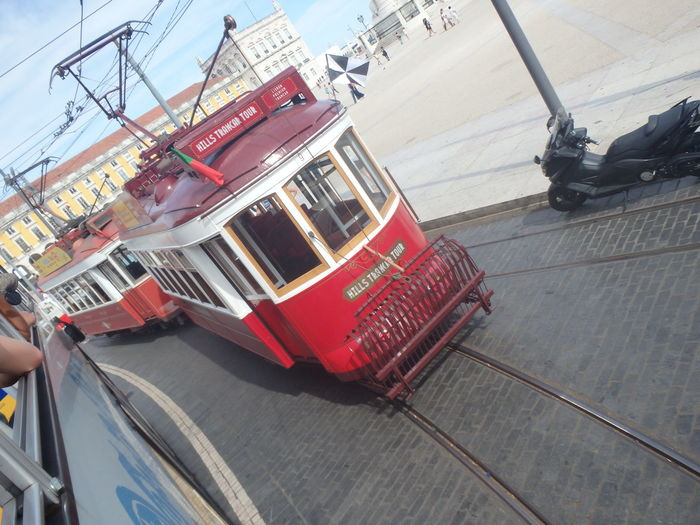 City Life Lisbon Lisbon Charm Lisbonlovers Mode Of Transport Portugal Tram Transportation Travel Traveling When You Stand Part Of History