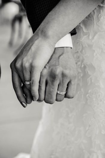 Wedding day True Love Vows Black And White Married Wedding Ring Marraige Wedding Human Hand Hand Human Body Part Body Part Real People Jewelry Ring Close-up Bonding Love Positive Emotion Two People Togetherness