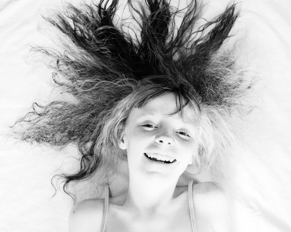 So my youngest wanted to be like her big sister so here's my favourite out of her mini photo shoot B&W Portrait Nikon Perspective Black & White Streamzoofamily Portrait Let Your Hair Down