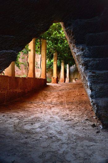 Oldgarden Quarry pillars scenery