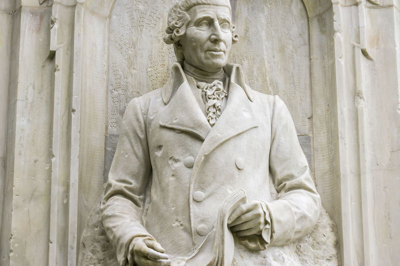 Haydn statue as part of the Beethoven-Haydn-Mozart Memorial at Tiergarten Park in Berlin, Germany Beethoven-Haydn-Mozart Memorial Berlin Classical Composers Germany Horizontal Joseph Haydn No People One Person Outdoors Photography Statue Tiergarten Berlin