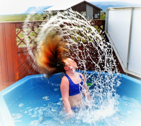 Hottub Time Having Fun Capture The Moment Enjoying Life Summer Time  Kids Having Fun Splashing Summer Vacation Hraunborgir