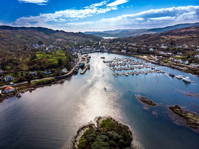 Scotland Tarbert Architecture Beauty In Nature Bridge Building Exterior Built Structure City Cloud - Sky Connection Day Mountain Nature No People Outdoors Plant River Scenics - Nature Sky Transportation Tree Water