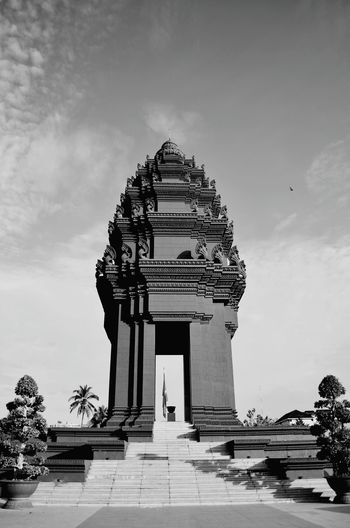 The independence monument in Phnom Penh Independence Monument Phnom Penh Cambodia Black And White
