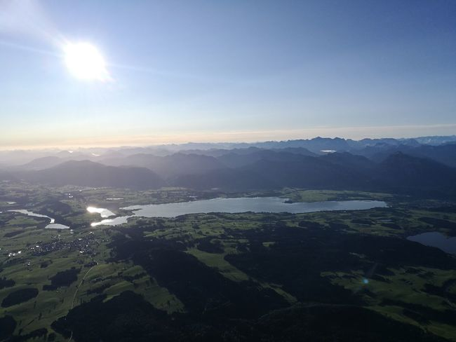 Alpenpanorama Alps Germany Ballon Trip Mountain Tranquility Aerial View Mountain Range No People Sky Lake Sunset Beauty In Nature Nature