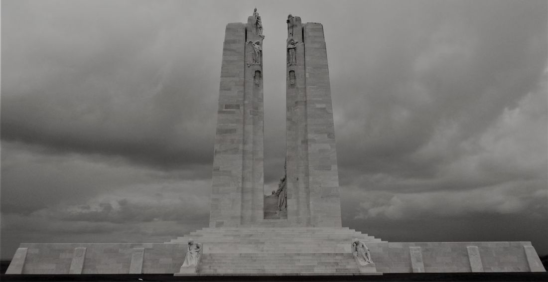 National Vimy Memorial in Vimy War Memorial War Memories Architecture Built Structure Canada History Outdoors Sky Tall - High Tower Travel Destinations War War Graves World War 1 World War 1 Memorial