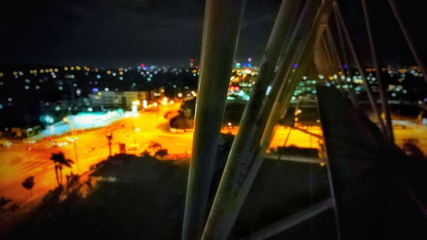 The suburbs of brisbane, as seen from a construction crane Night Illuminated City Built Structure Crane Height Photography Urban Rooftopping
