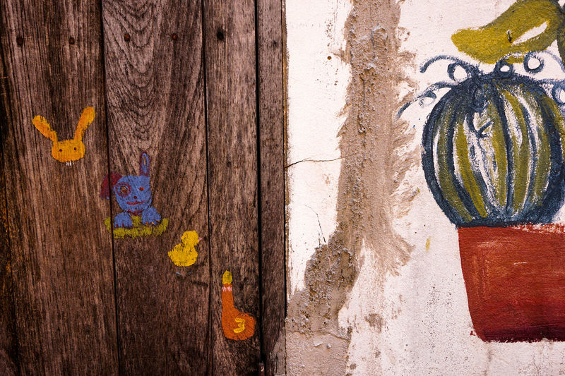 Paint Wall Wall Art Wall Painting Animal Cartoon Cartoon Painting Wall Paint