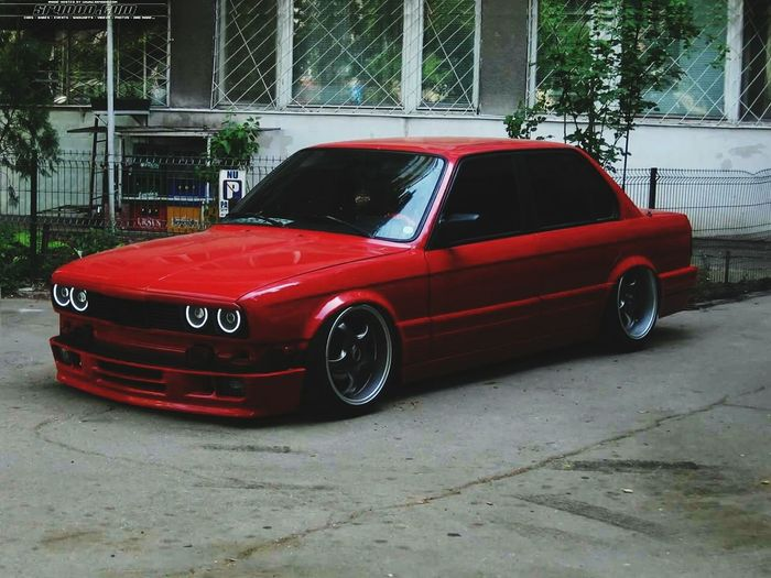 Bmw E30 ❤️ BMW 325i Bmw Drift King Bmw I ♥ It Red Car Transportation Shiny Land Vehicle No People Outdoors Day Collector's Car RedBmw