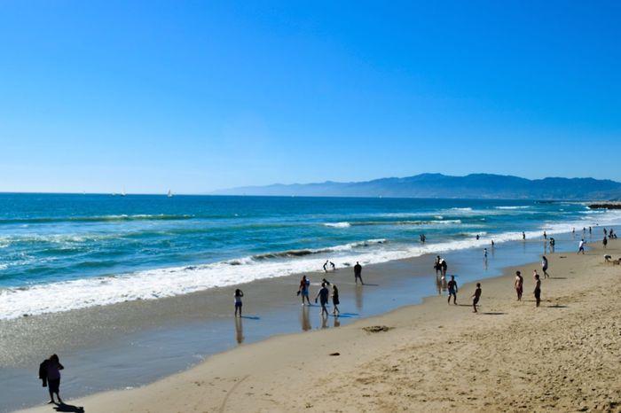 Blue Wave venice beach Pacificocean Coastline Beach Sea And Sky Blue Sky California Summer The Essence Of Summer PeopleOfTheOceans