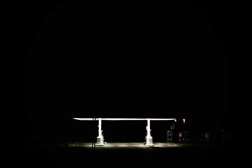 Gaz Gaz Station Night Oil Neon Light