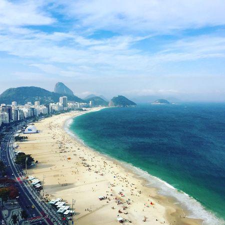 Copacabana , Rio . / Copacabana Beach Riodejaneiro Rio De Janeiro Rio 2016 Rio2016 Sea Sea Shore Seashore Mar Praia Instagram Bestof_marcelo_mol Showcase July Colour Of Life Festival Season