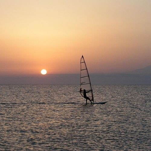 Shaft Sunset Sea Calmness Serenity Cool Peaceful