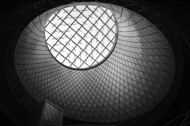 Looking up at the Oculus in Manhattan, New York City, New York, USA. Architectural Feature Architecture Black And White Black And White Photography Blackandwhite Blackandwhite Photography Built Structure Ceiling Circle Design Directly Below Geometric Shape Interior Low Angle View Manhattan Modern New York New York City Oculus