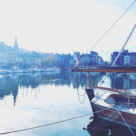 Trip to Honfleur in October Water Harbor Waterfront Mast Sailboat Day Clear Sky Yacht EyeEm Best Shots France Trip