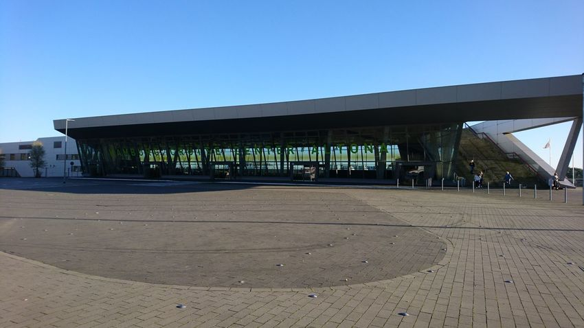 Hamburg Cruise Center Altona. Hamburg Germany Hh Altona Cruise Center Altona Cruise Center Cruise Terminal Harbor Port Tourism Traffic Sea Traffic Blue Sky Steel Glass And Steel Concrete Architecture Built Structure Outdoors Sand Clear Sky Day Beach