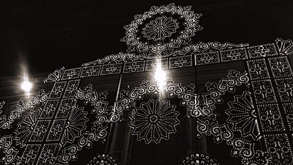 Low Angle View Christmas Lights No People Indoors  Sky