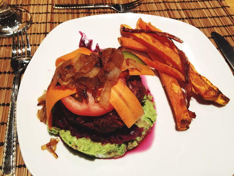 Vegetarischer Hamburger Food And Drink Ready-to-eat Food Veggieburger