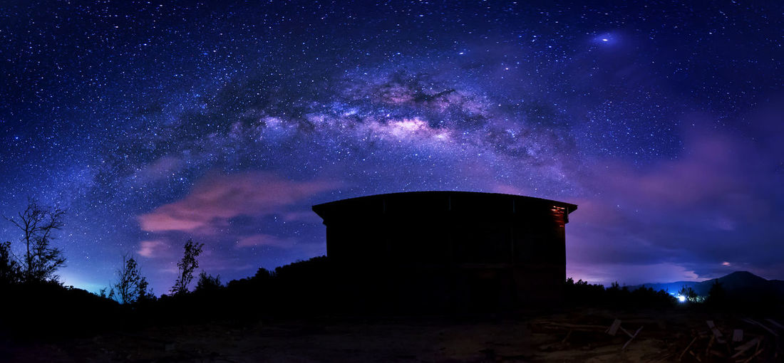 Milky way at Kudat, Malaysia. Nikon D700 nikkor 14-24mm iso 3200/f2.8/20-30 sec Architecture Astronomy Astronomy Telescope Building Exterior Built Structure Constellation Galaxy Milky Way Night No People Outdoors Silhouette Sky Space Star - Space Tree Water Tower - Storage Tank