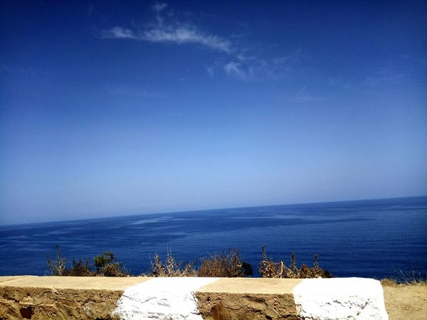 Sea Nature Horizon Over Water No People Beauty In Nature Sky Blue Water Day Voyages Tranquility Algeria Tipaza Travel Destinations Summer Cloud - Sky Sea And Sky