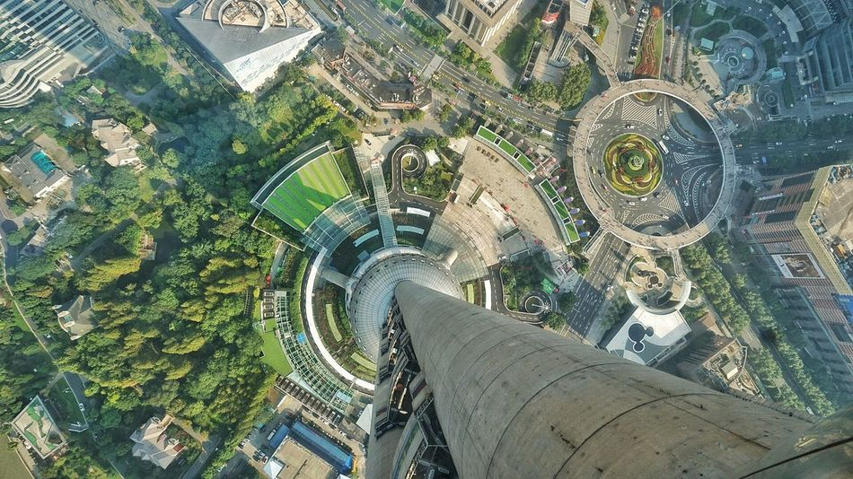 Architecture Travel Destinations Building Exterior No People Close-up Outdoors Day Birdeyeview View From Above Oriental Pearl Tower