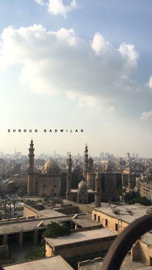 View from citadel Salah Al Din Egypt Caithness Mosque Architecture Built Structure Building Exterior Sky City Cloud - Sky Cityscape