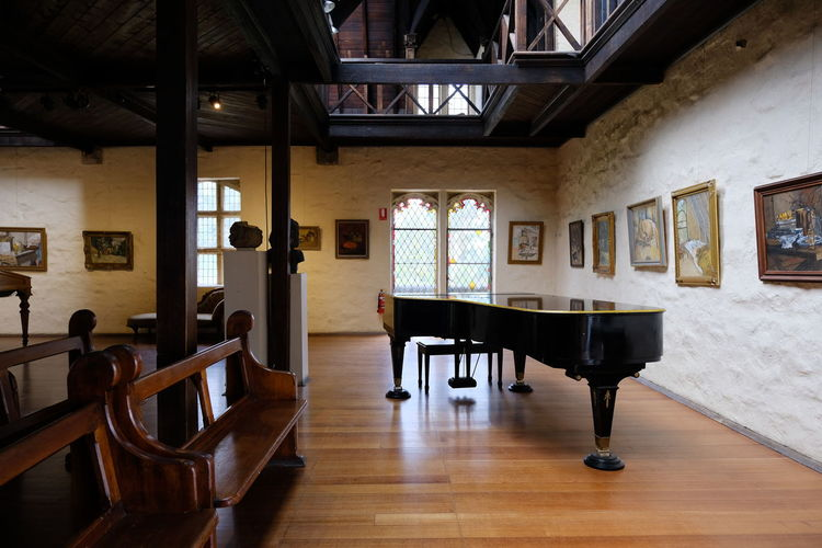 Shot at Montsalvat, Eltham. Architecture Chair Day Hardwood Floor Indoors  Musical Instrument No People Piano