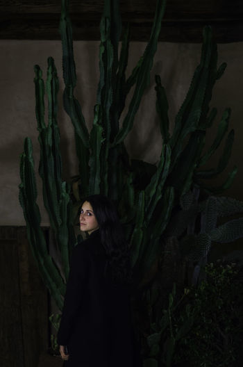 Cactaceae Adult Beautiful Woman Cactus Cactus Garden Females Green Color Indoors  One Person One Woman Only One Young Woman Only Only Women People Plant Portrait Profile Women Young Women The Portraitist - 2017 EyeEm Awards Mix Yourself A Good Time