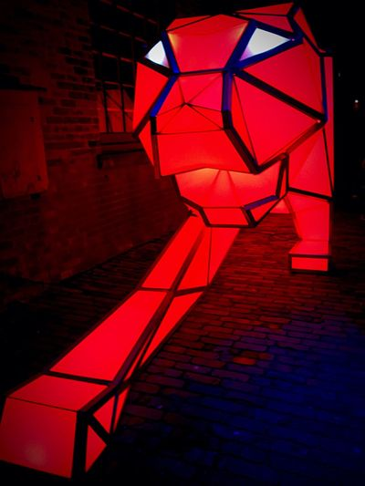 Digital Origami Tigers- These tigers by Australia's LAVA were originally created to celebrate the Lunar New Year Illuminated Red Night Toronto No People City Life Photographer Photography Cold Temperature T.O The6ix Feativaloflight Distillery District EyeEmNewHere Ontario, Canada Outdoors Winter