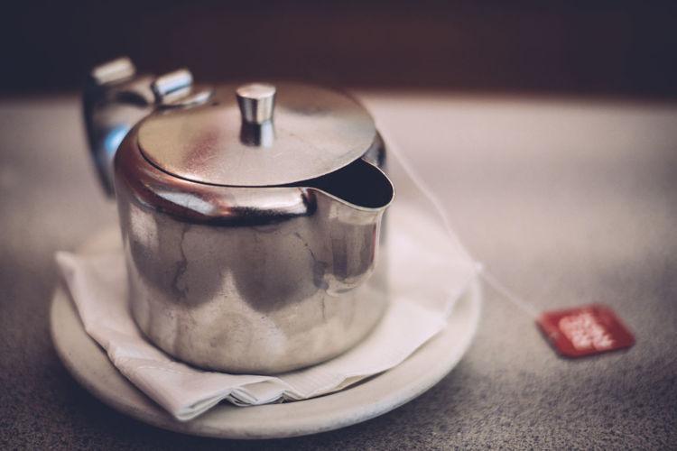 Close-up of teapot