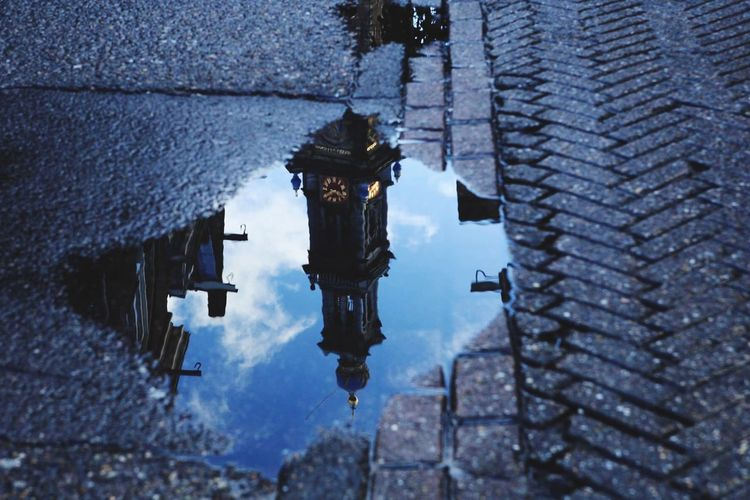 Westerkerk Reflection Street Puddle Water Reflections Amsterdam Seeing The Sights Church My Country In A Photo Learn & Shoot: Simplicity Your Amsterdam Fine Art Photography Hidden Gems  A Bird's Eye View