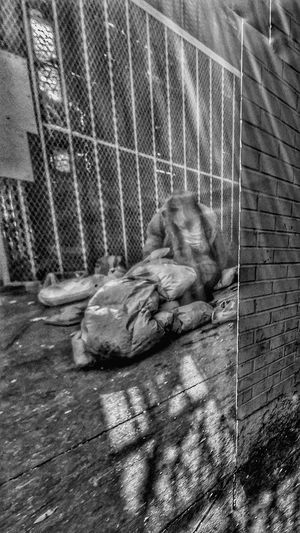 Living On The Edge of Architecture Blurry Man Homeless New York Chinatown Real Politik The Photojournalist - 2017 EyeEm Awards