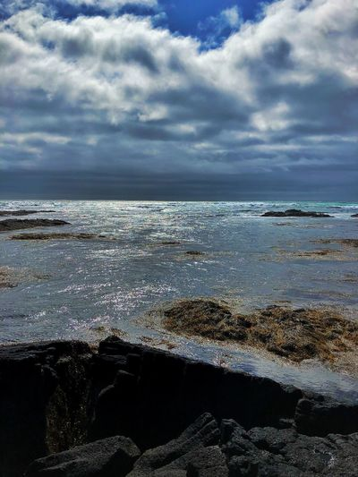 Cloud - Sky Water Sea Sky Beauty In Nature Scenics - Nature Nature Outdoors Tranquility Tranquil Scene Horizon No People Wave Beach Day Land Horizon Over Water Motion Idyllic Power In Nature