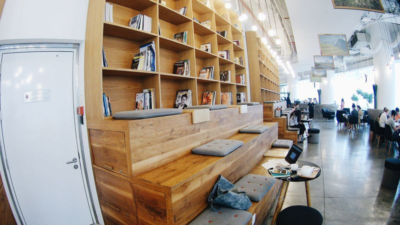 Adult Adults Only Bookshelf Cafe Cafe Time Cozy Day Domestic Room Indoors  People Relax Retail  Saigon Shelf Store Table Vietnam