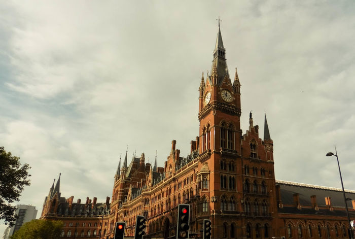St. Pancras Station 1 Architecture Building Exterior Built Structure City Clock Tower Cloud - Sky Day History Low Angle View No People Outdoors Sky St. Pancras Station Travel Destinations